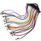 Cordón para Gafas,12 Piezas Gafas de Sol Soporte Correa Multi-color Ajustable Cadena para el Cuello Gafas Retenedor para Deportes y Exteriores 12 Colores