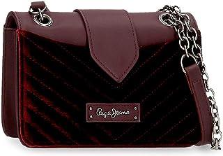 Pepe Jeans Claris Handtasche Rot 21,5x14x6 cms Kunstleder und Polyester