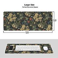ウィリアム・モリス 花柄 マウスパッド キーボードパッド 滑らかマウスパッド ゲーミングパッド 大型 オフィス 家庭用