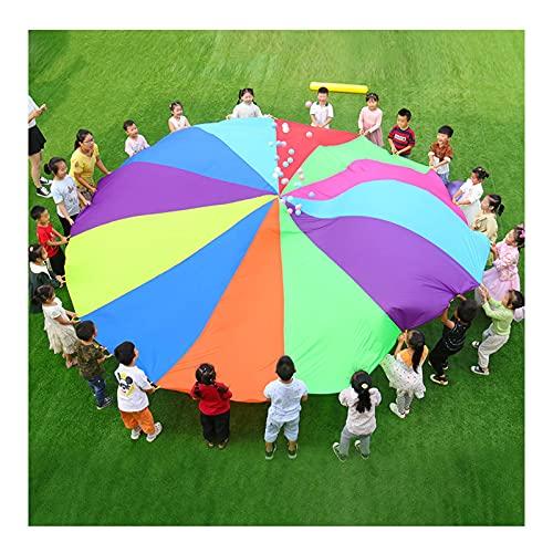 Giocattolo Paracadute Giochi di Paracadute per Bambini, Giochi da Giardino All'aperto, Giochi Cooperativi Multiplayer Scolastici, Esercitare I Giocattoli per La Forza del Braccio dei Bambini