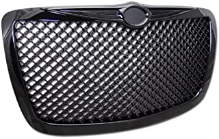 HS Power Black Mesh Front Grill Hood Bumper Grille Cover ABS 2004-2010 For Chrysler 300 300C