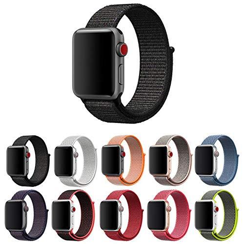 Pulseira Nylon Loop para Apple Watch 40mm e 38mm Series 1 2 3 4 5 - Marca Ltimports (Preto)