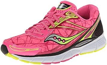 Saucony Women's Breakthru Running Shoe,Pink/Citron,8.5 M US