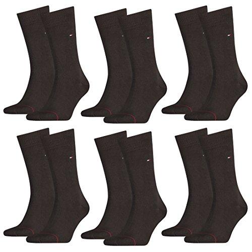 TOMMY HILFIGER Herren Classic Casual Business Socken 12er Pack (kensington brown, 39-42)