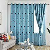 Cartoon Children Room Curtains Thermal Insulated Eyelet Blackout Curtain with Printed Patterns