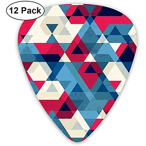 12 Pack Oude Goederen Driehoek Naadloze Mode Gitaar Picks Complete Gift Set voor Gitarist