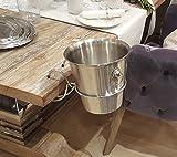 Fachhandel Plus Sektkühler mit Tischhalter, Champagnerkühler, Flaschenkühler, Weinkühler, Edelstahl