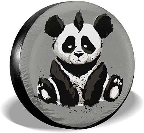 ADGoods Cubierta del neumático Sitting Panda Spare Tire Cover Waterproof Universal Covers Protector Fits 14' 15' 16' 17' Wheels