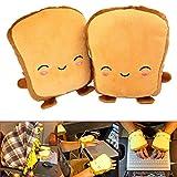 FBGood 1 Paar USB Handwärmer Hand Muffs - Nette Karikatur Toast Beheizte Handschuhe...