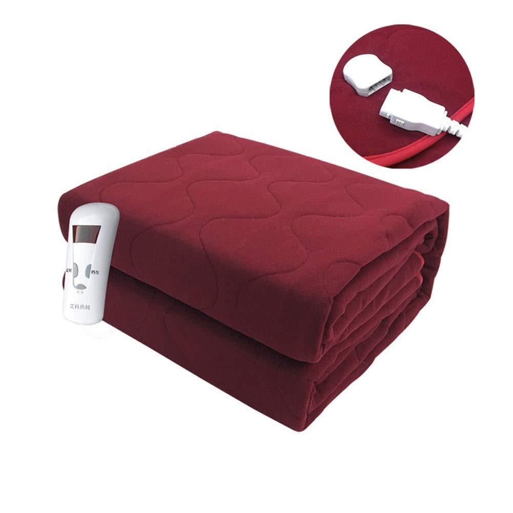 QLAT HOME Manta eléctrica Termostato de temporización Inteligente Doble Impermeable Colchón de calefacción de Control Individual para el hogar, Rojo, 150 × 180 cm: Amazon.es: Hogar