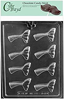 Cybrtrayd Mermaid Tail Chocolate Candy Mold in Sealed Poly Bag