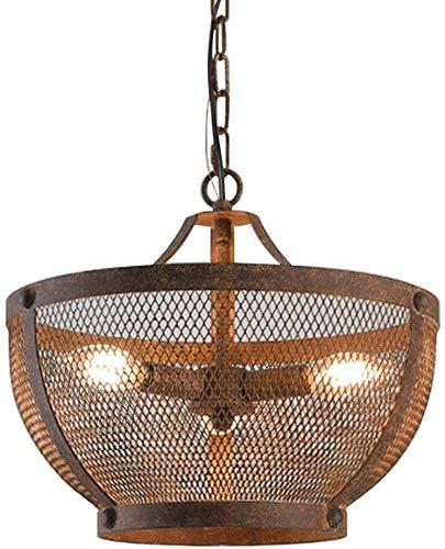 Retro Plafond hanglamp metalen kap keten, Industrial Kroonluchter Lamp Base for Dining Hall Hotel Restaurant Office koffie, 1head XIUYU (Color : 3head)