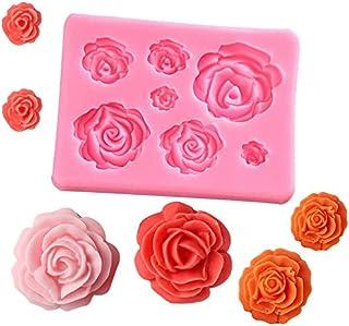 Liamostee 3D silikonform tårta dekorationsverktyg rosblommor form för tvål godis choklad is