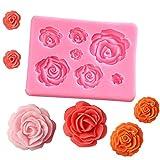Liamostee 3D Silikonform Kuchen Dekorieren Werkzeuge Rosen Blumen Form für Seife Süßigkeiten...