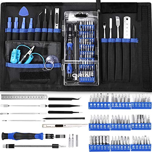 2020 Best Precision Screwdriver Set 142 in 1 with 120 Bits Mini Magnetic Repair Kit Tools Include Phillips Pentalobe Torx Hex Slotted Triangle Square, for Pc iPhone MacBook Laptop Watches Camera