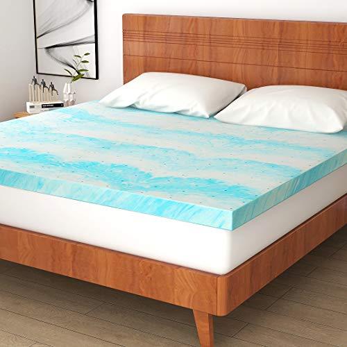 POLAR SLEEP Mattress Topper, 3 Inch Gel Infused Memory Foam Mattress Topper Twin Size