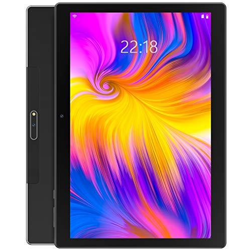 Tablet 10 Zoll Android 9.0 Pie mit Zwei SIM-Karten-Slots und 32GB Speicher, 128 GB erweiterbar,1280 x 800 HD IPS, Quad-Core, Dual Kamera, GMS Zertifiziert, 2.4G WiFi, GPS, FM, Bluetooth 4.0 - Schwarz