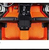 QWERQF Alfombrillas de Coche Accesorios Alfombrillas de Coche Personalizadas avanzadas,para Landrover LR2 LR3 LR4 Range Rover Freelander Discovery evoque Auto Naranja