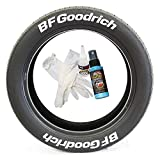 BF Goodrich Tire Lettering - Permanent DIY Glue-On Tire Letter Kit - Custom Sizing/Colors - (Pack of 8)