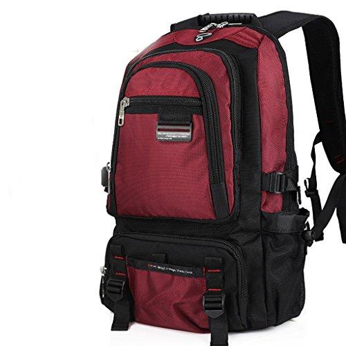 AMOS Mochila para hombre de gran capacidad para mochila para mujer ( Color : Verde oscuro , Tamaño : 47*31*14 cm )