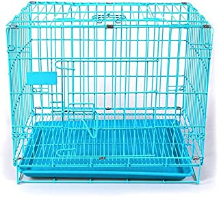 PetzLifeworld 18 Inch (1.5 Feet ) Small Puppy /Rabbit Cage with Removable Cleaning Tray (Blue)
