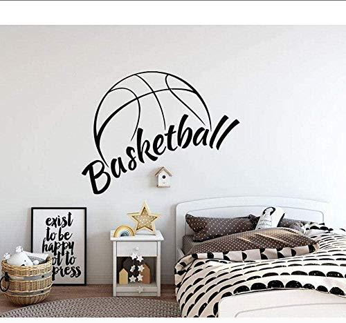 Decoración del hogar Pegatinas de pared Pegatinas de interior Pegatinas de canasta de baloncesto Pegatinas Pegatinas Papel pintado para niños Impermeable 72x57 cm