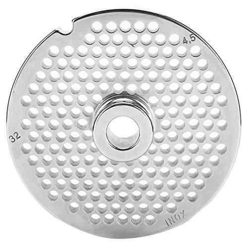 Picadora de carne de acero inoxidable Trituradora Mincer Placa Disco Cuchillo Reemplazo Herramienta doméstica Accesorio de cocina(Hole Plate 4.5mm)