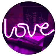 QiaoFei Neon Love Signs Light,LED Love Art Decorative Marquee Sign - Wall Decor for Wedding party Ki...