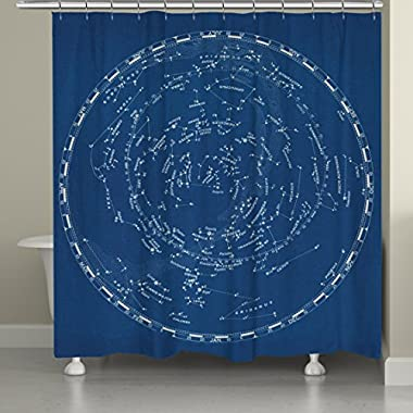 Laural Home Constellations Shower Curtain, 71 x 74