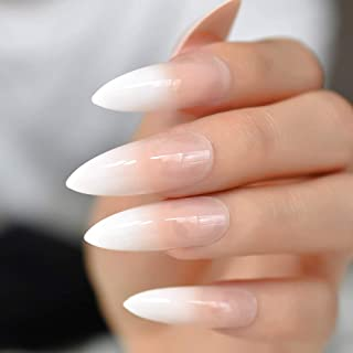 nude ombre coffin nails