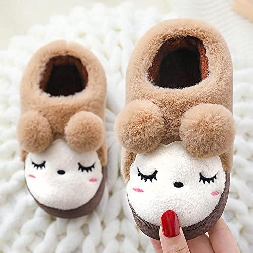 Pantuflas Mujer Invierno Casa Bota,Invierno Parejas Femeninas Zapatos Antideslizantes De Suela Gruesa para Padres E Hijos, CáLidos Zapatos De AlgodóN De Lana, Zapatillas para NiñOs, Zapatillas De LAN