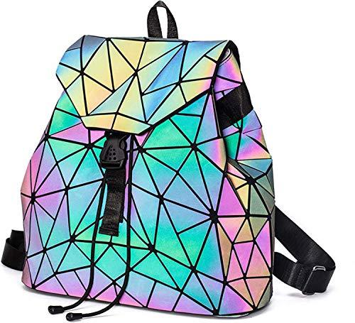 Geometrica Zaino Donna Zainetto Ragazza Elegante Zaini Olografica Zaino Moda Borse a mano Backpack Daypack per Scuola Viaggio Lavoro