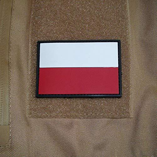 Copytec Polen Polska Fahne Abzeichen Airsoft Wojsko Polskie 3D Rubber Patch 5x8cm #17047