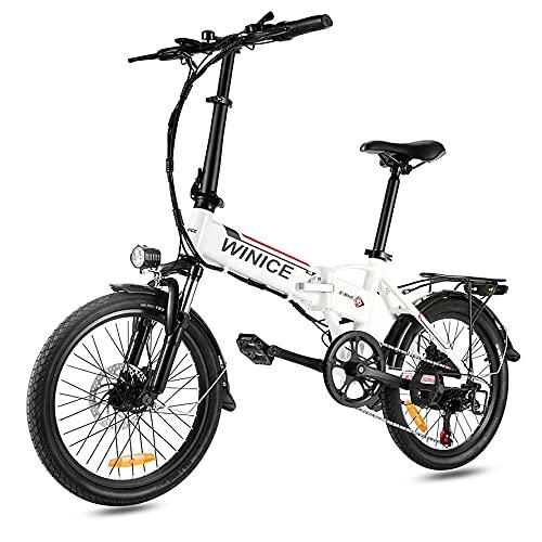 VIVI Elektrofahrrad Klapprad 20 Zoll 36V E-Bike Faltrad Pedelec Elektro Klapprad mit Motor Citybike 7-Gang Klappfahrrad (F20 Gabelfederung- Weiß)