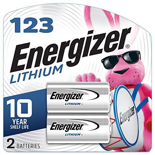 Energizer El123apb-2 3 Volt Lithium Photo Battery, 0.32 Ounce, 123A 2 Count (EL123APB2)