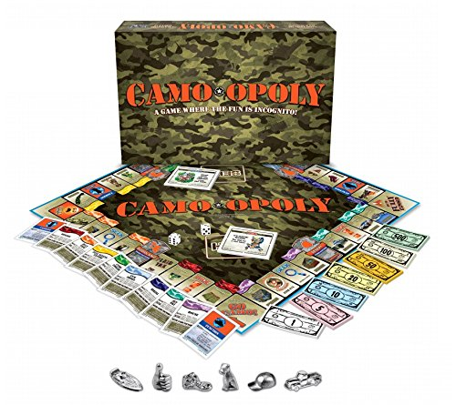Late for the Sky Camo-opoly Board Game