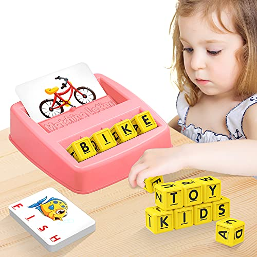 ideal games for 6 year old girls NARRIO Educational Toys for 3 4 5 Year Old Girls Gifts, Matching Letter Spelling Games Learning Toys for Kids Ages 3 4 5, Christmas Birthday Gifts for 3-6 Year Old Girls Toddler Toys Age 2-4