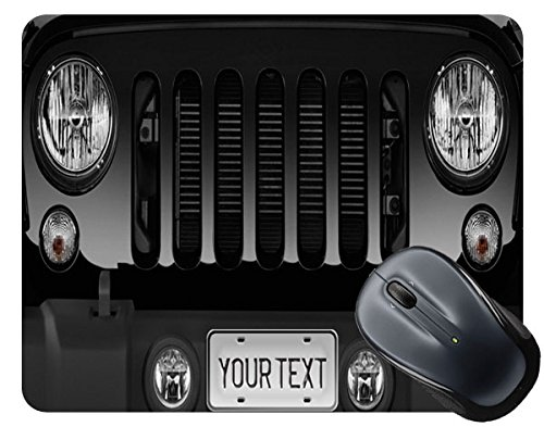 BleuReign(TM) Personalized Custom Name SUV Bumper Car Grill Black License Plate Mouse Pad