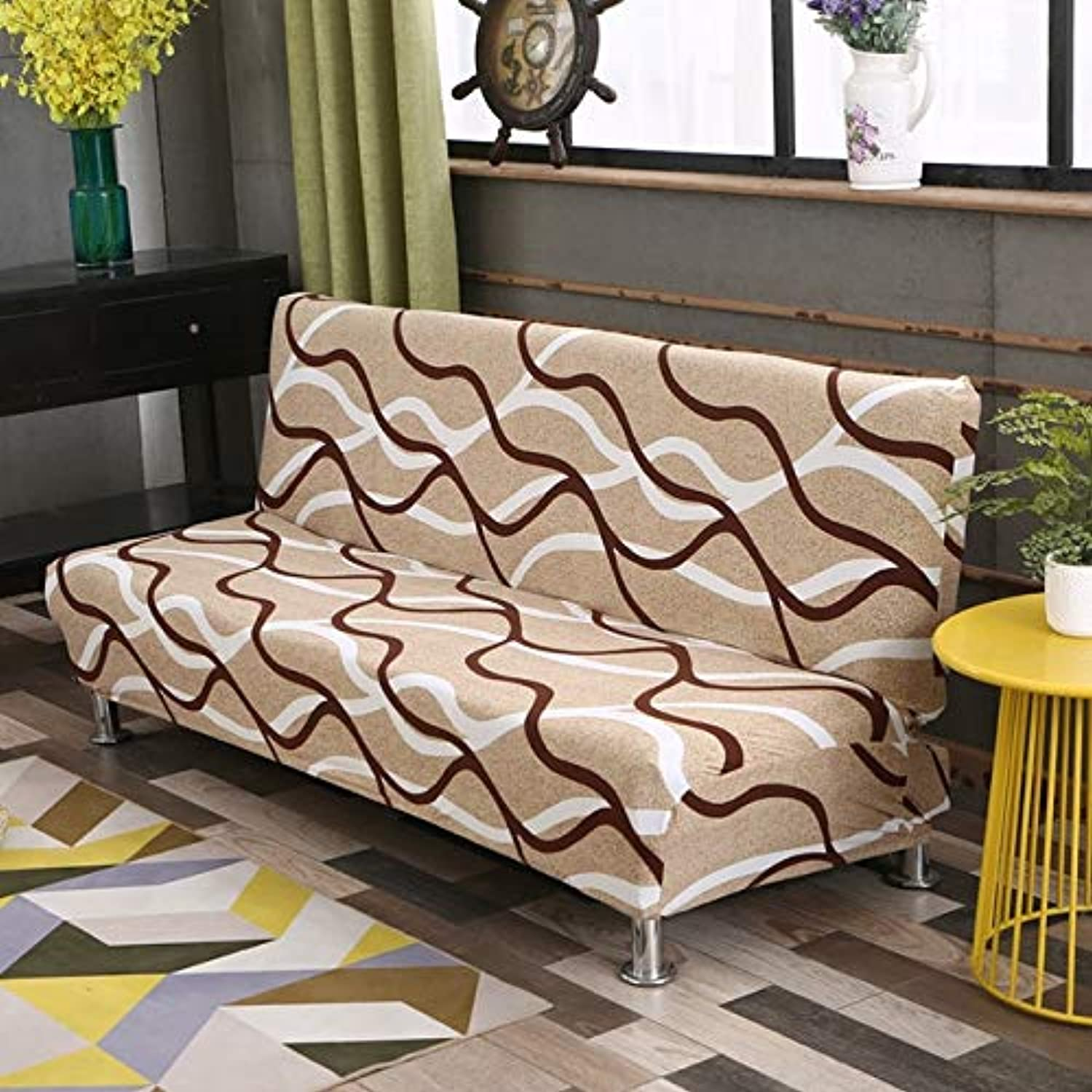 Dreamworld Elastic Sofa Bed Cover Stretch Sofa Bed Covers for Living Room 2 and 3 Seater Sofa Cover Universal Seat Cover   BYSH, M185cm-200cm