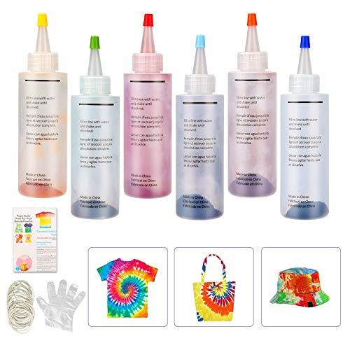 6 Colores Colores Vibrantes Pinturas Ropa,Tie Dye,Textiles d