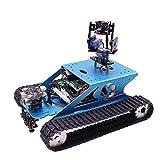 JING Kit De Robótica Inteligente, 4B Tanque De Rastreo Coche Inteligente WiFi Inalámbrico Video Programación Juguete Electrónico DIY Robot Kit para Niños Adultos Compatible Rpi, Sin Raspberry Pi
