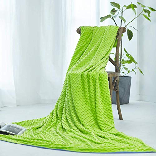 """Duvet Cover for Weighted Blanket and Throws, Removable and Washable, Ultra Soft Mink Covers for Blankets (Large 60"""" x 80"""", Green)"""