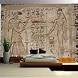 Papel Tapiz Fotográfico 3D Antiguo Egipto Faraón Tallado En Piedra Sala De Estar Dormitorio Pared Del Hogar 3D Mural Impermeable No Tejido 400cmx280cm
