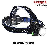 キャンプトーチを充電LEDヘッドランプ充電式ヘッドライトZoombleヘッドランプ防水トーチT6懐中電灯3ライトモードのUSB JJYZD (発光色 : A)