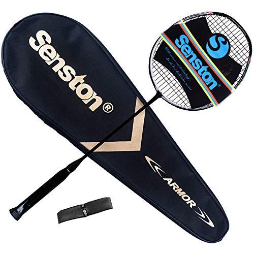 Senston N80 100 Full Carbon Badminton Racket with Premium Bag One Piece Design Lightweight Graphite Single Badminton Racquet