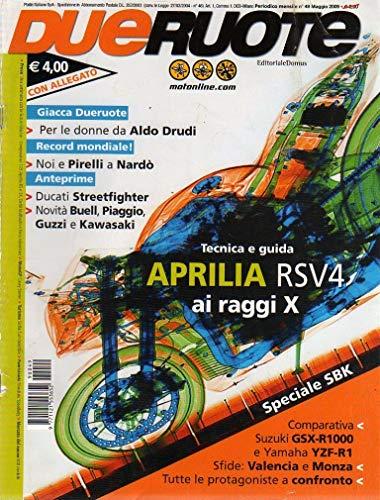 Dueruote 49 del Maggio 2009 Tecnica e guida Aprilia RSV4