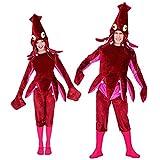 WIDMANN 02603adultos Disfraz Calamar, unisex?Adultos, vino rojo , color/modelo surtido