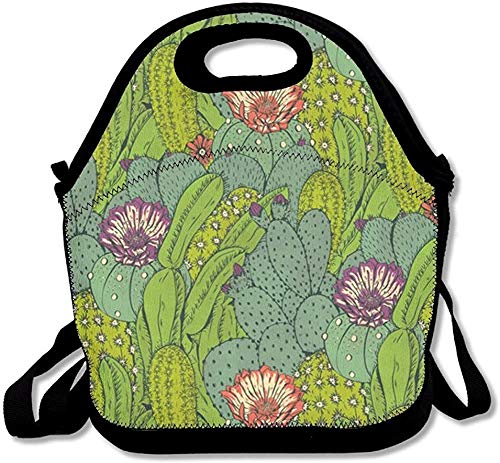 Leather Cactus Plants Texture Backpack Daypack Bag Women