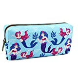 Mermaid Pencil Case Students Canvas Pen Bag Pouch stationery Case Makeup Cosmetic Bag