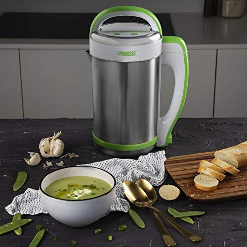 Princess 212040 - Licuadora eléctrica y máquina para hacer sopa, batidos o salsas, capacidad de 1.3 litros, completamente automática